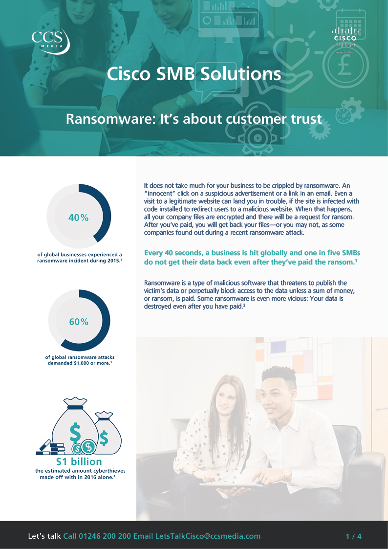 Ransomware: It's about customer trust