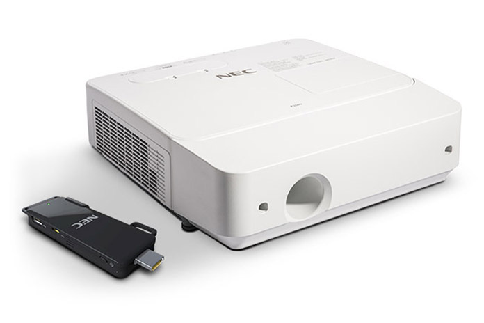 NEC projector in detail