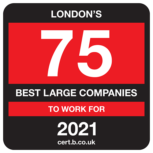 London's 75 Best Large Companies to Work For 2021